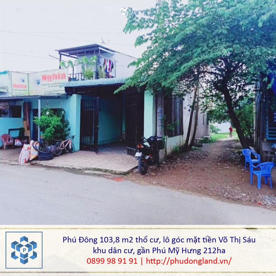 Bán đất xã Phú Đông Nhơn Trạch Đồng Nai mặt tiền Võ Thị Sáu 20/135-4