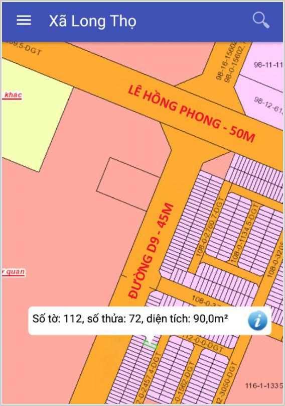 Bán đất dự án HUD Nhơn Trạch Đồng Nai 112/72 giá dưới 1 tỷ