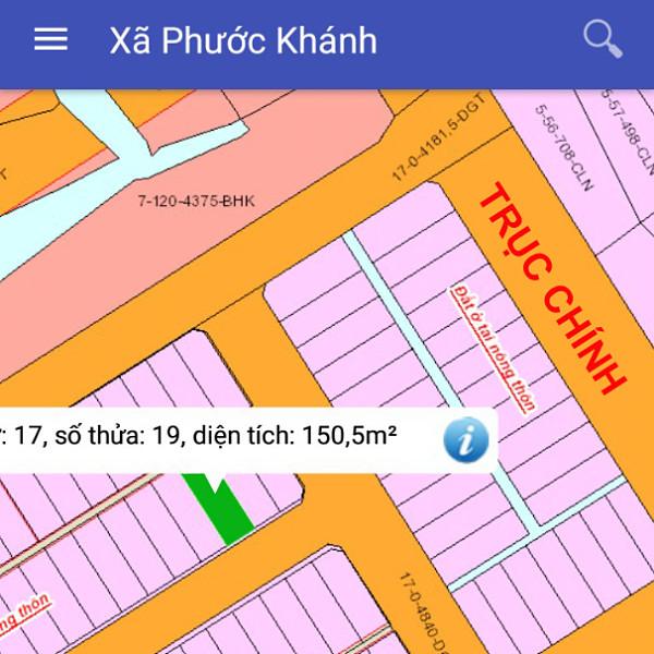 Bán đất tái định cư Phước Khánh Nhơn Trạch Đồng Nai 17/19-2