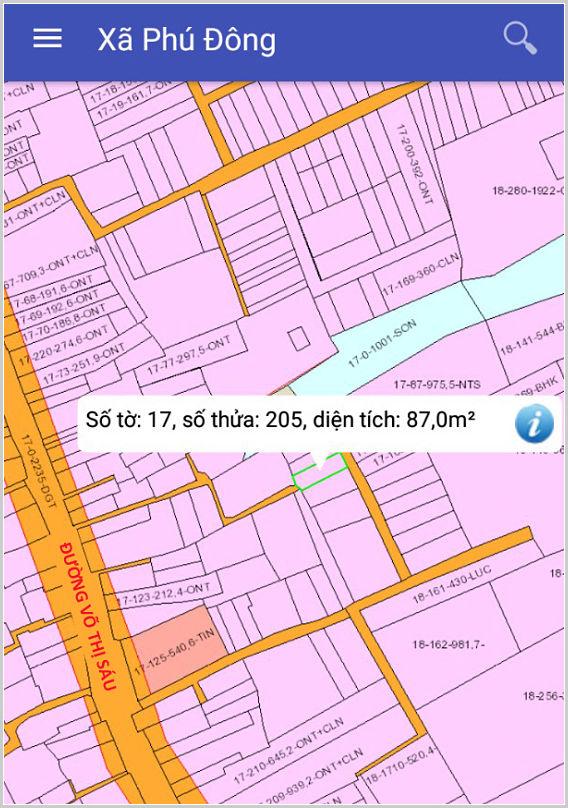 Bán đất xã Phú Đông Nhơn Trạch Đồng Nai cách Võ Thị Sáu 120m lô 17/205-2