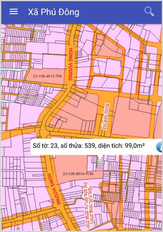 Bán đất xã Phú Đông Nhơn Trạch Đồng Nai gần đường Hùng Vương 23/539
