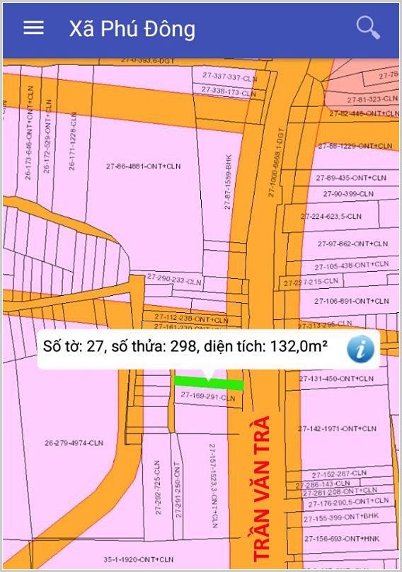 Bán đất xã Phú Đông Nhơn Trạch Đồng Nai mặt tiền Trần Văn Trà 27/298