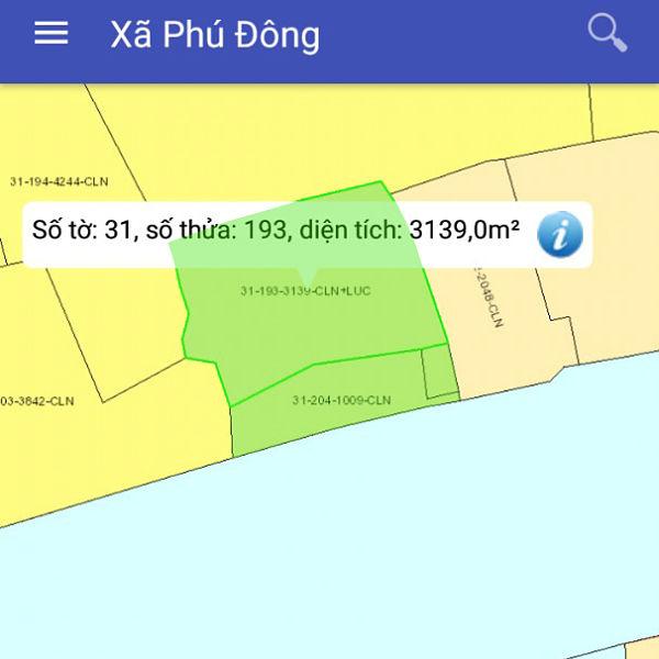 Mua bán đất nông nghiệp Đồng Nai xã Phú Đông Nhơn Trạch mặt tiền sông 80m 31/193-2