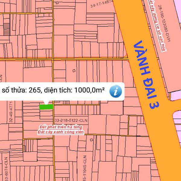 Bán đất xã Phú Thạnh Nhơn Trạch Đồng Nai 32/265 gần đường Vành Đai 3-1