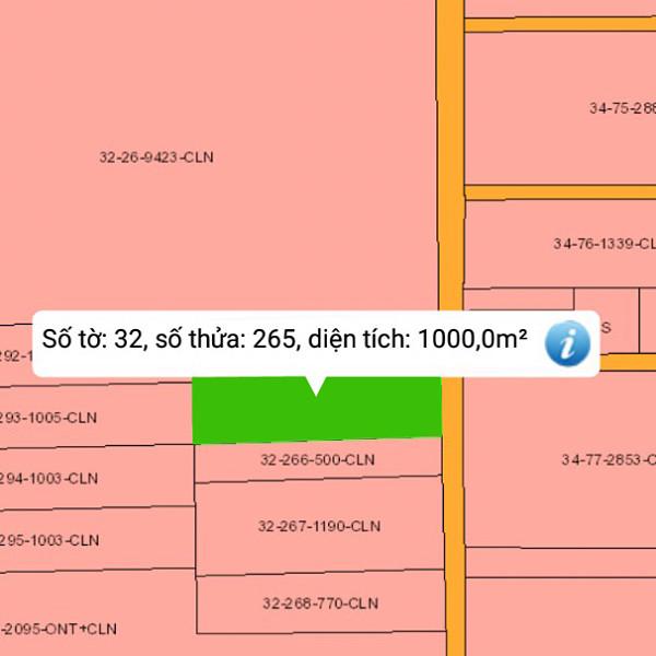 Bán đất xã Phú Thạnh Nhơn Trạch Đồng Nai 32/265 gần đường Vành Đai 3-2