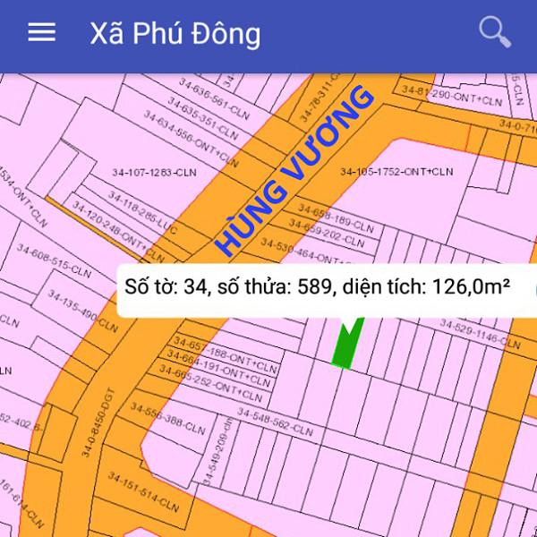 Bán đất xã Phú Đông Nhơn Trạch Đồng Nai cách Hùng Vương 50m 2