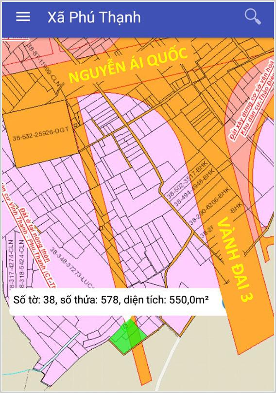 Bán đất xã Phú Thạnh Nhơn Trạch Đồng Nai 38/576-577-578-1