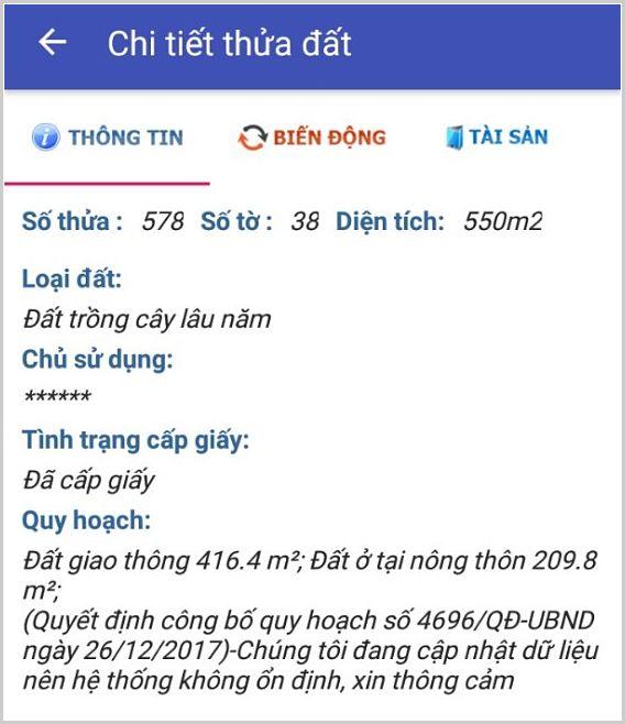 Bán đất xã Phú Thạnh Nhơn Trạch Đồng Nai 38/578