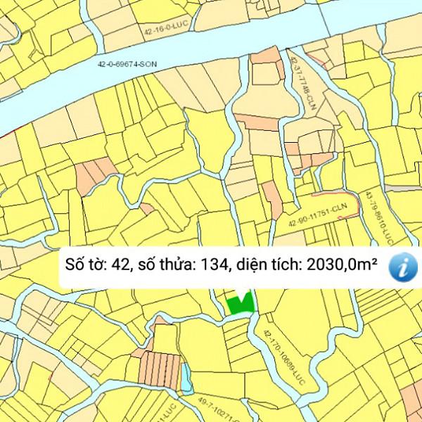 Mua bán đất nông nghiệp Đồng Nai xã Phú Đông Nhơn Trạch mặt tiền sông 42/134