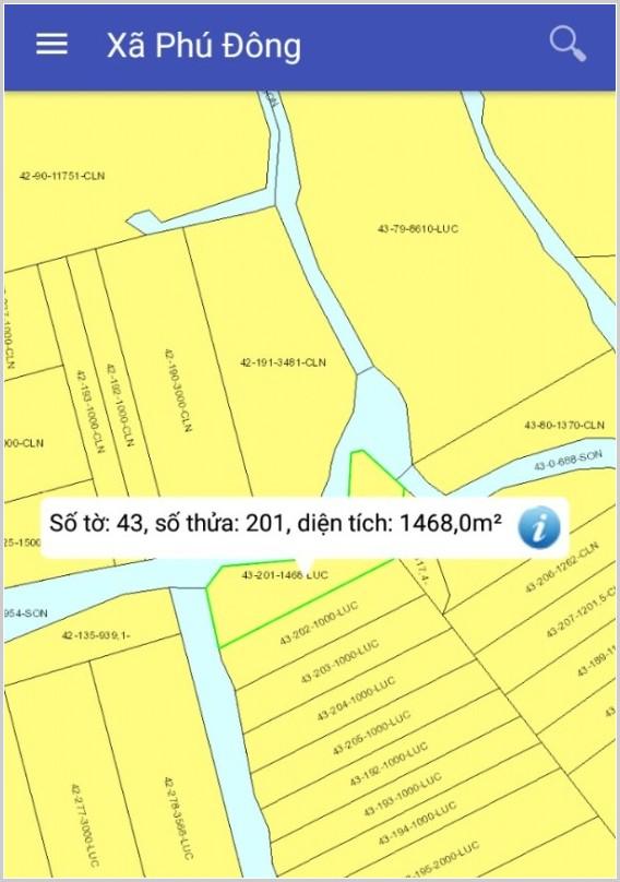 Mua bán đất nông nghiệp Đồng Nai xã Phú Đông Nhơn Trạch 43/201-1