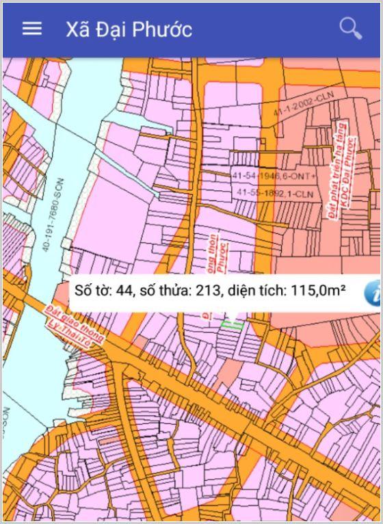 Bán đất Nhơn Trạch Đồng Nai gần phà Cát Lái xã Đại Phước 44-213-1