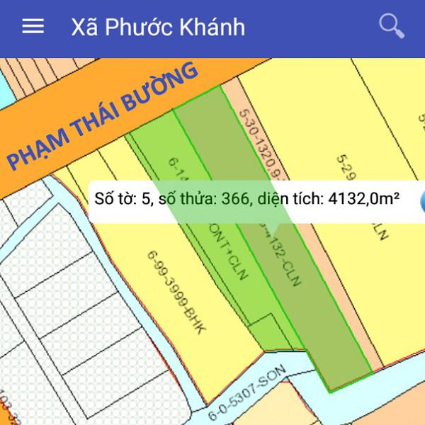 Bán đất xã Phước Khánh Nhơn Trạch Đồng Nai mặt tiền Phạm Thái Bường 5/366-2