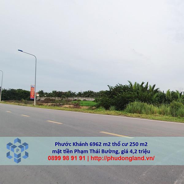 Bán đất xã Phước Khánh Nhơn Trạch Đồng Nai mặt tiền Phạm Thái Bường 5/366-8