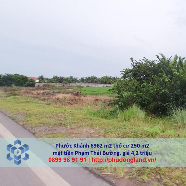 Bán đất xã Phước Khánh Nhơn Trạch Đồng Nai mặt tiền Phạm Thái Bường 5/366-6