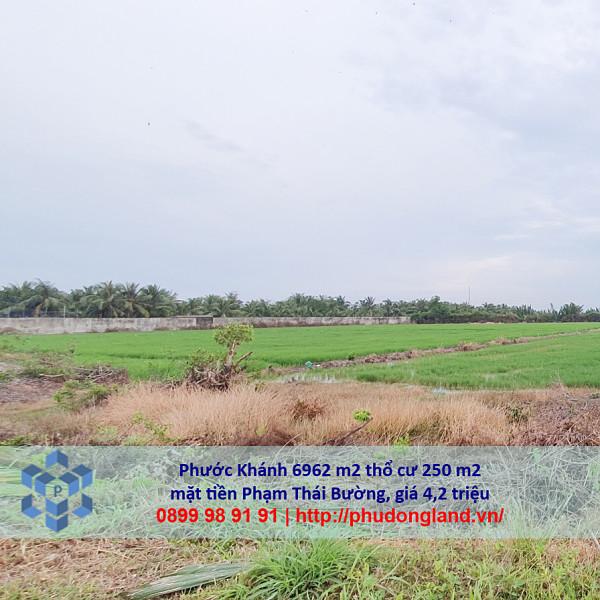 Bán đất xã Phước Khánh Nhơn Trạch Đồng Nai mặt tiền Phạm Thái Bường 5/366-7