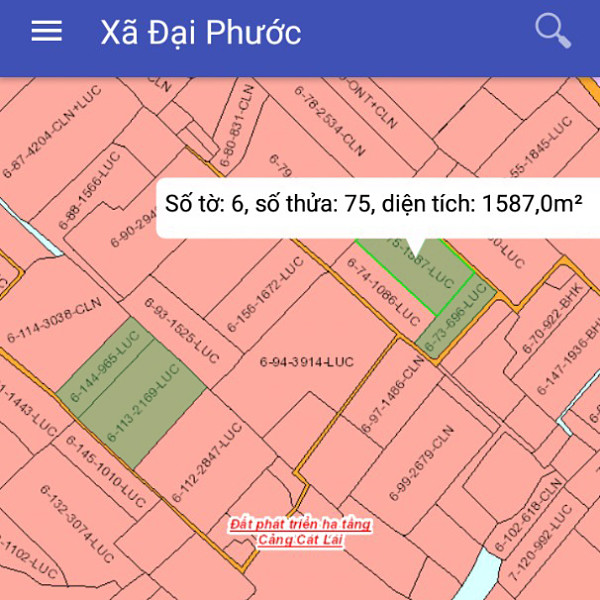 Bán đất Nhơn Trạch Đồng Nai gần phà Cát Lái 6/75-2