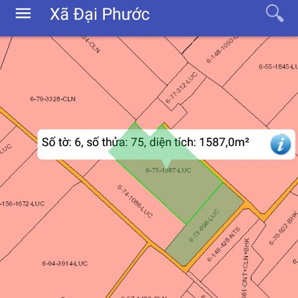 Bán đất Nhơn Trạch Đồng Nai gần phà Cát Lái 6/75-3